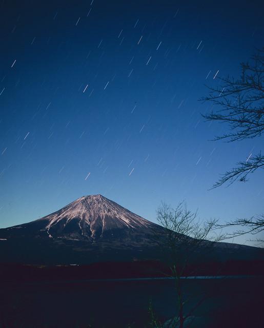 富士と光跡
