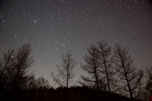 沈む冬の星たち