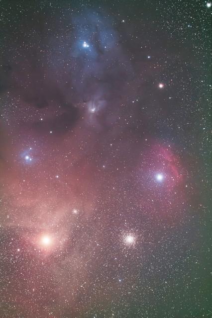 アンタレス周辺の星雲、星団
