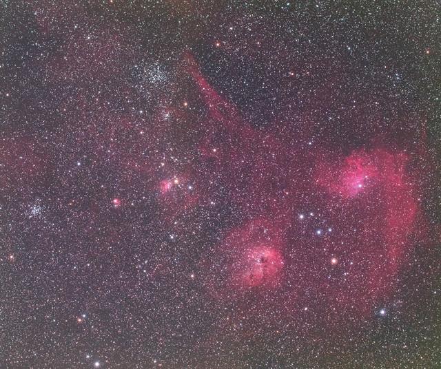 ぎょしゃ座の星雲、星団