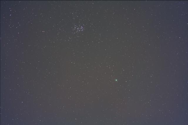 ラブジョイ彗星(2014 Q2)とプレアデス星団