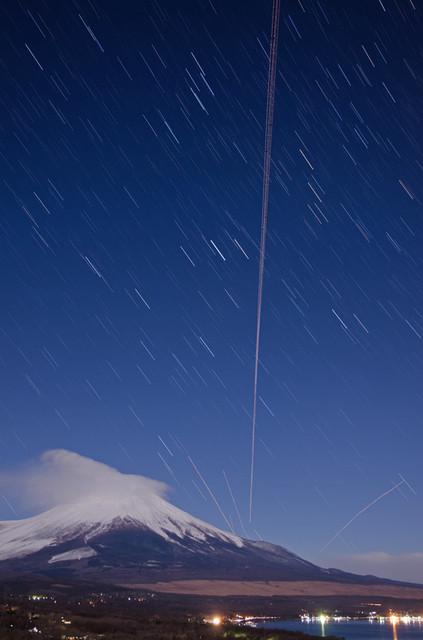 富士と沈む星々